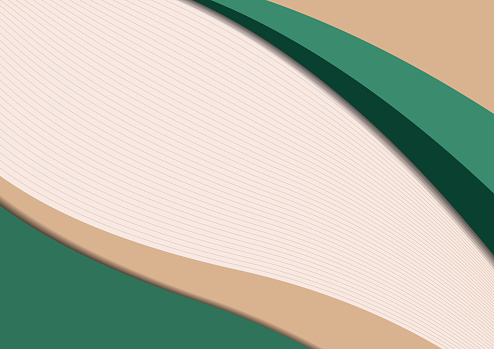 Minimalistic geometric backgrounds. Trendy colors. Wavy lines. Paper cut effect. Design layout for business presentations, flyers, posters and invitations. Vector