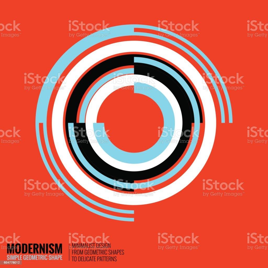 Minimalistische geometrische Gestaltung Lizenzfreies minimalistische geometrische gestaltung stock vektor art und mehr bilder von 1980-1989