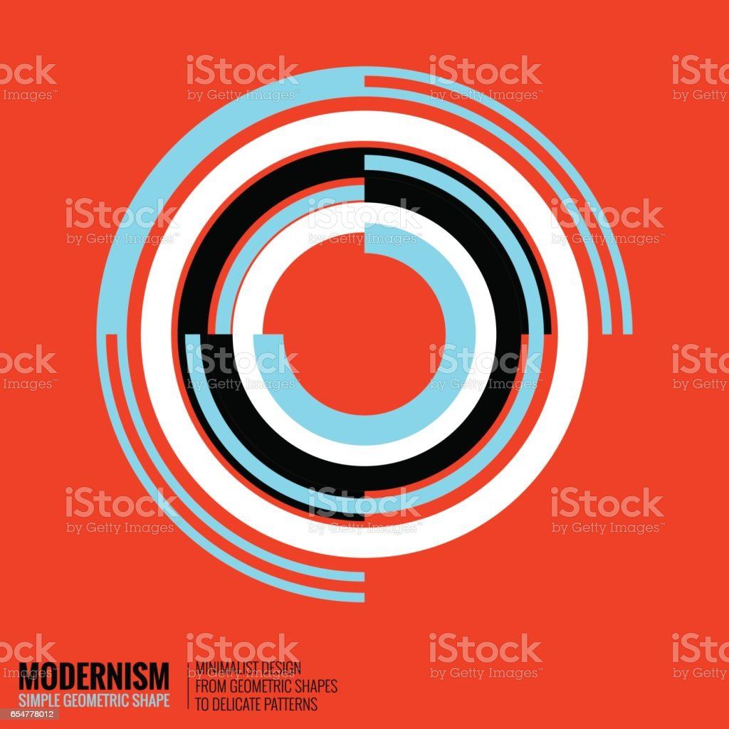 Minimalistic Geometric Design vector art illustration
