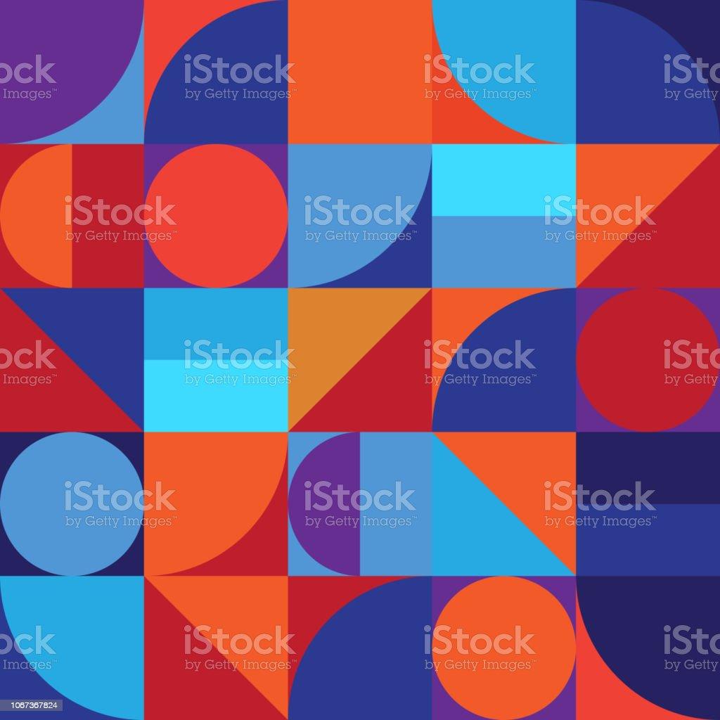 최소한의 기하학 추상 벡터 패턴 디자인 - 로열티 프리 계획 벡터 아트