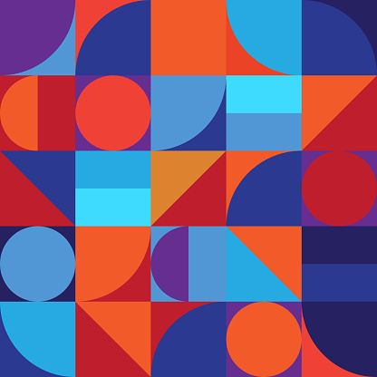Minimalistic geometry abstract vector pattern design