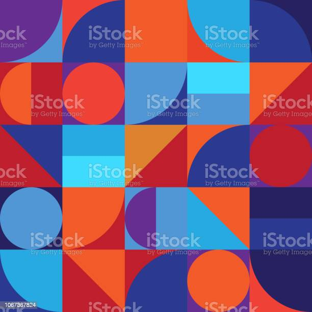 Minimalistic Geometry Abstract Vector Pattern Design - Arte vetorial de stock e mais imagens de Abstrato