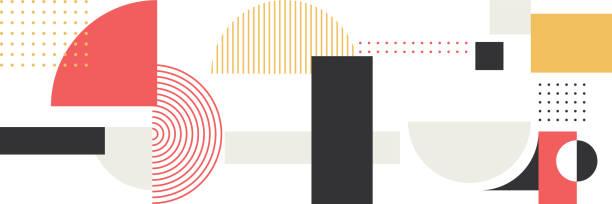 Minimalistic Geometry Abstract Vector Pattern Design Minimalistic Geometry Abstract Vector Pattern Design geometric shape stock illustrations