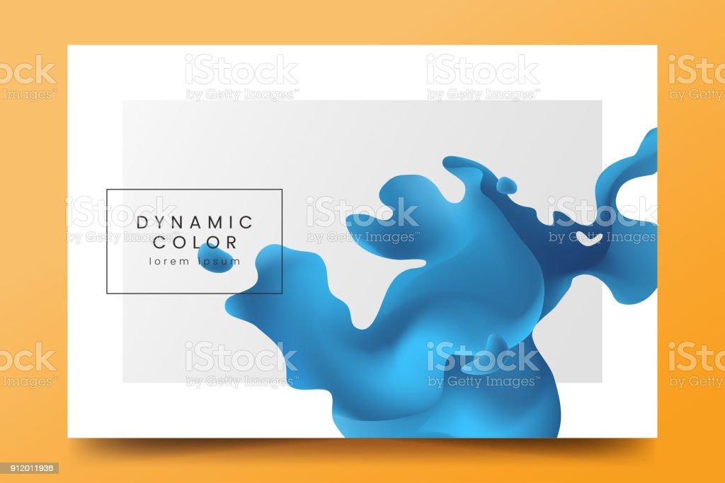 Minimaliste fond horizontal avec forme abstraite de liquide bleu. Toile de fond avec vague couleur fluide. Modèle de vecteur pour la bannière, page web, invitation à l'événement musique, affiche, flyer, magazine page. minimaliste fond horizontal avec forme abstraite de liquide bleu toile de fond avec vague couleur fluide modèle de vecteur pour la bannière page web invitation à lévénement musique affiche flyer magazine page vecteurs libres de droits et plus d'images vectorielles de a la mode libre de droits