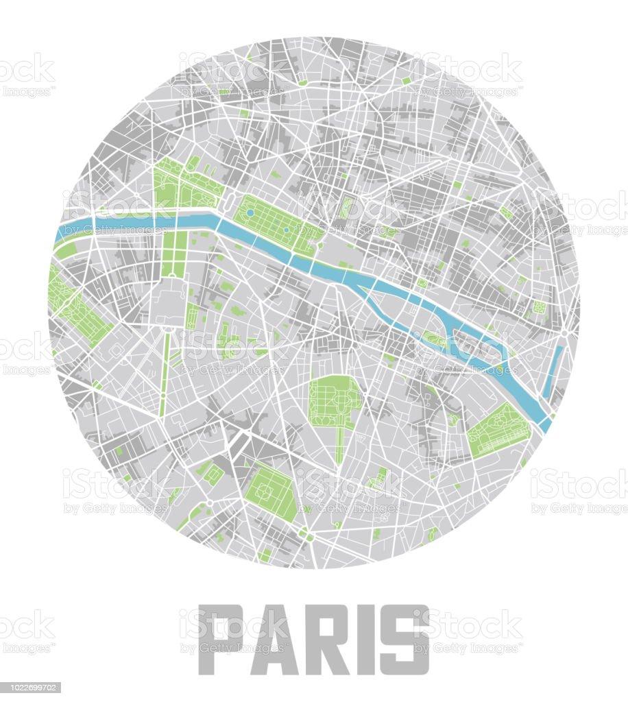 ミニマルなパリ市内地図アイコン アイコンのベクターアート素材や画像