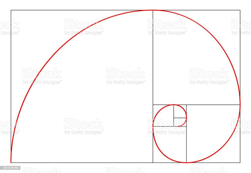 Design Im Minimalistischen Stil Goldenen Schnitt Geometrische Formen ...