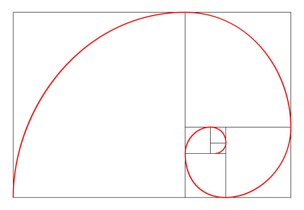 minimalistic style design. golden ratio. geometric shapes. circles in golden proportion. futuristic design. logo. vector icon. abstract vector background - золотое сечение stock illustrations