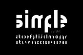 Minimalistic style modern font