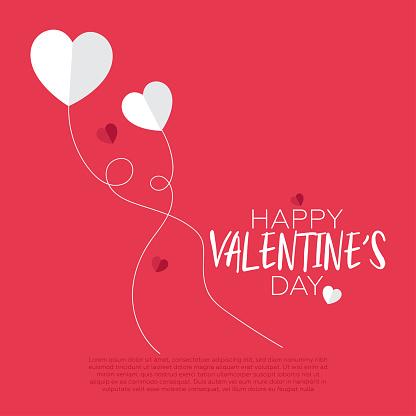 Minimalistic valentine's day background.