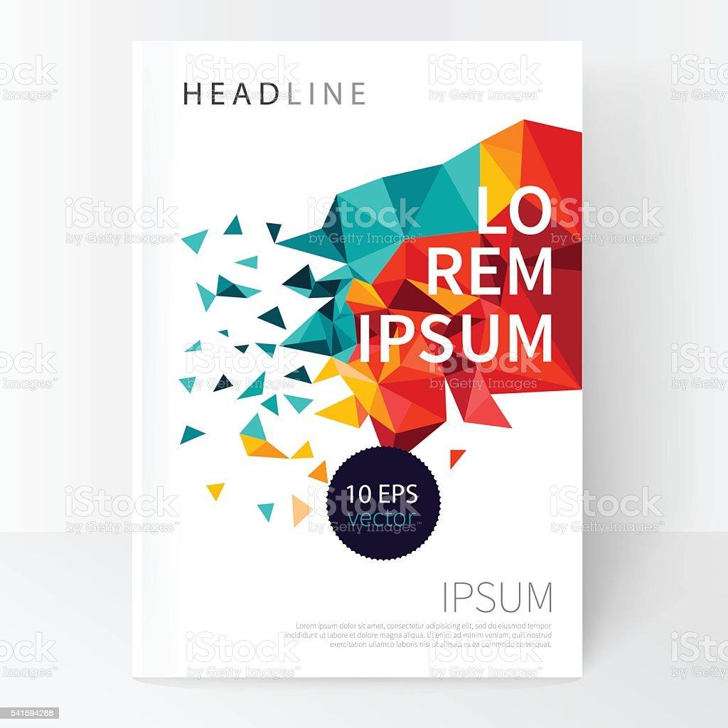 Minimalistic White cover Brochure design. vector art illustration