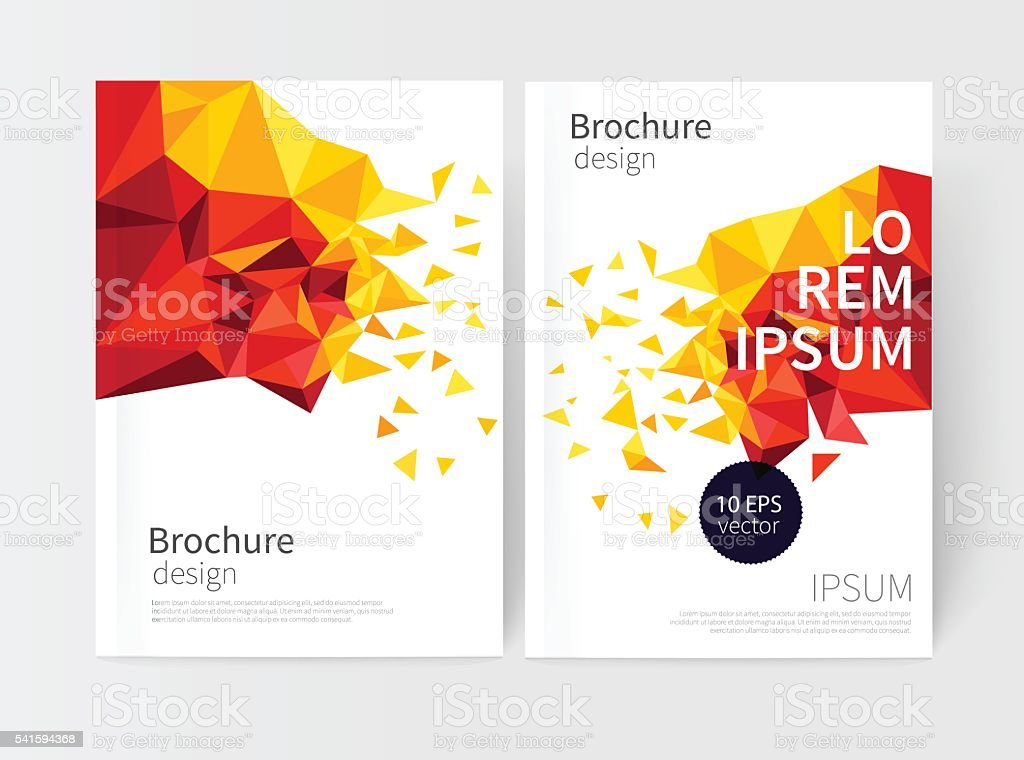 Minimalistic White cover Brochure design. vector art illustration