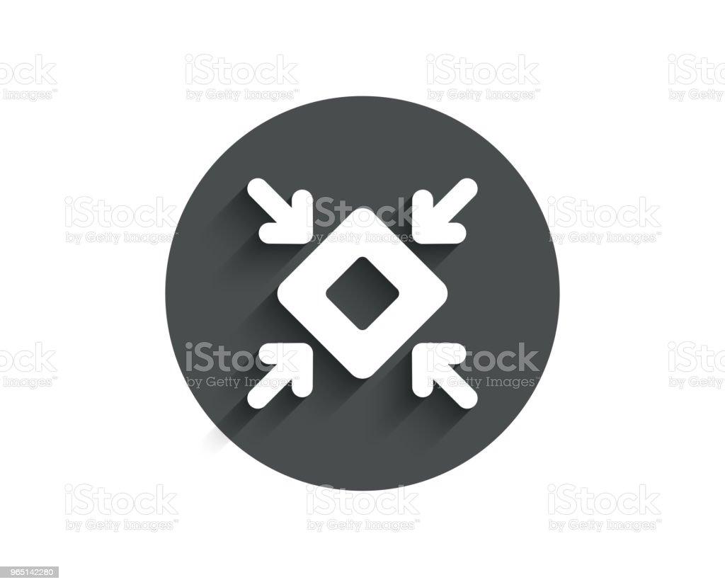 Minimize arrow simple icon. Small screen sign. minimize arrow simple icon small screen sign - stockowe grafiki wektorowe i więcej obrazów aplikacja mobilna royalty-free