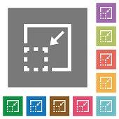 Minimize element square flat icons