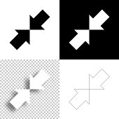 istock Minimize. Icon for design. Blank, white and black backgrounds - Line icon 1294921974