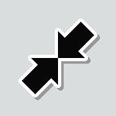 istock Minimize. Icon sticker on gray background 1307058007