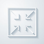 istock Minimize. Icon with paper cut effect on blank background 1316086719