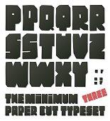 Minimun cut typeset