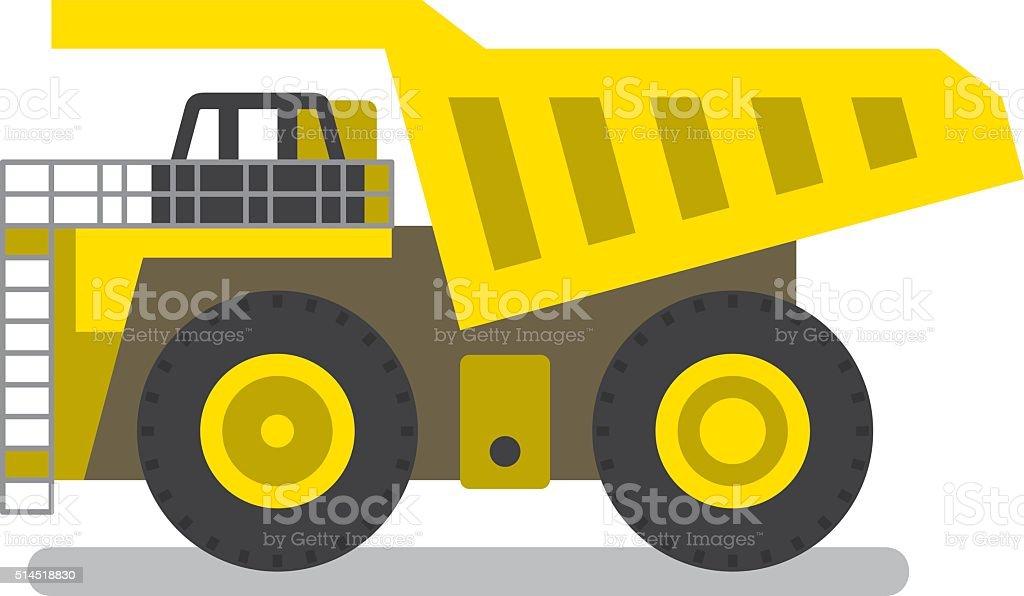 royalty free yellow dump truck clip art vector images rh istockphoto com dump truck clip art free dump truck outline clip art