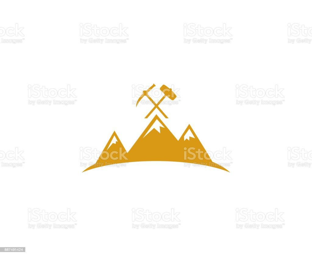 Mining icon vector art illustration