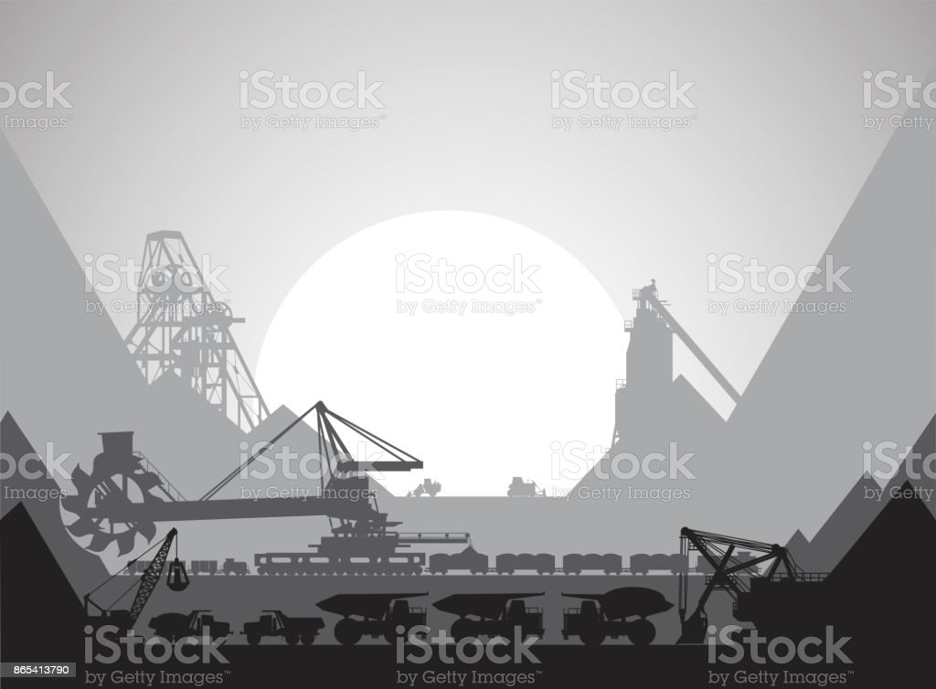 mining in which the ore is mined stock vector art 865413790 istock