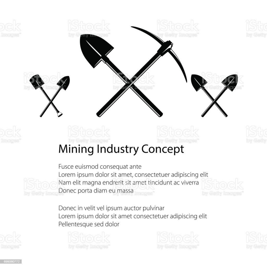 Mining Industry and Construction Concept vector art illustration