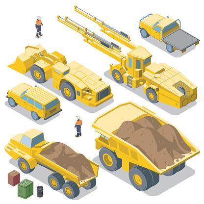 Mining Vehicles reverse view (isometric)
