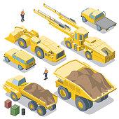 istock Mining Vehicles reverse view (isometric) 1206766728