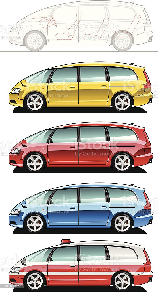minivan, ambulance car royalty-free minivan ambulance car stock vector art & more images of blue