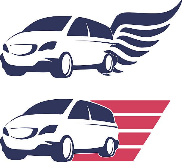 Minivan cargo delivery vector vector art illustration