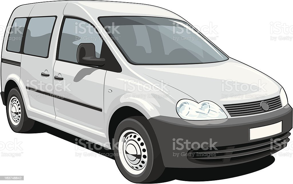 Minivan vector art illustration