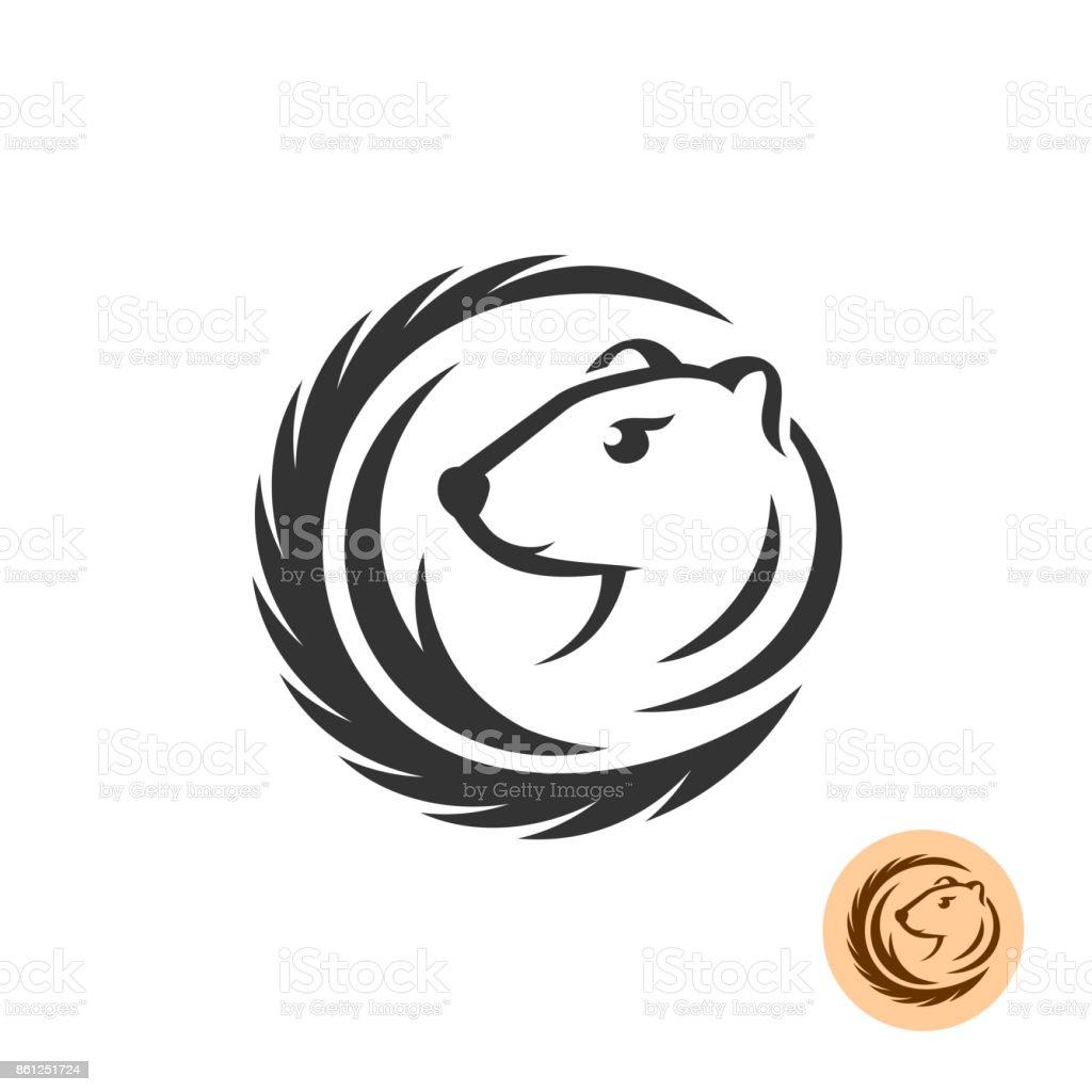 Symbole élégant de vison. - Illustration vectorielle