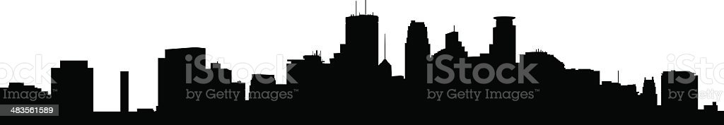Minneapolis Skyline royalty-free stock vector art