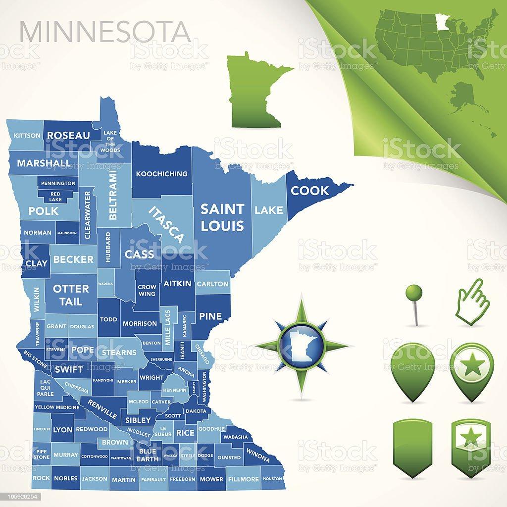 Minnesota Comté De Carte – Cliparts vectoriels et plus d'images de