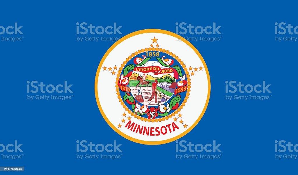 Minnesota Flag vector art illustration