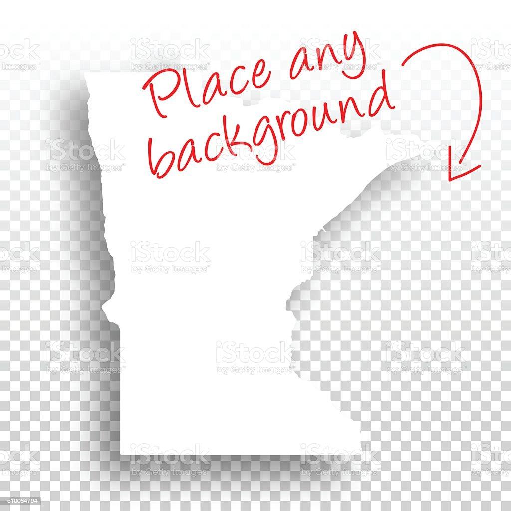 Minnesota Map for design - Blank Background vector art illustration