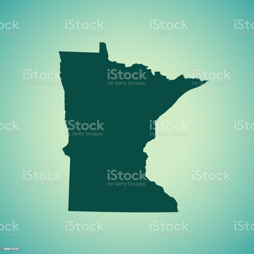 Minnesota Map Stock Vector Art & More Images of Cartography ...