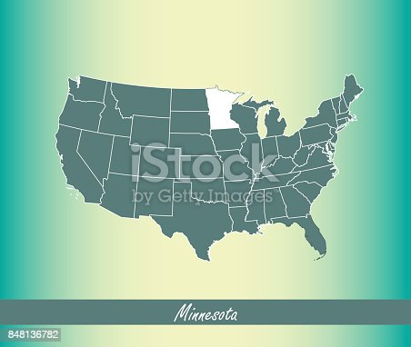 Political Map Of United States With The Several States Where - Minnesota on us map