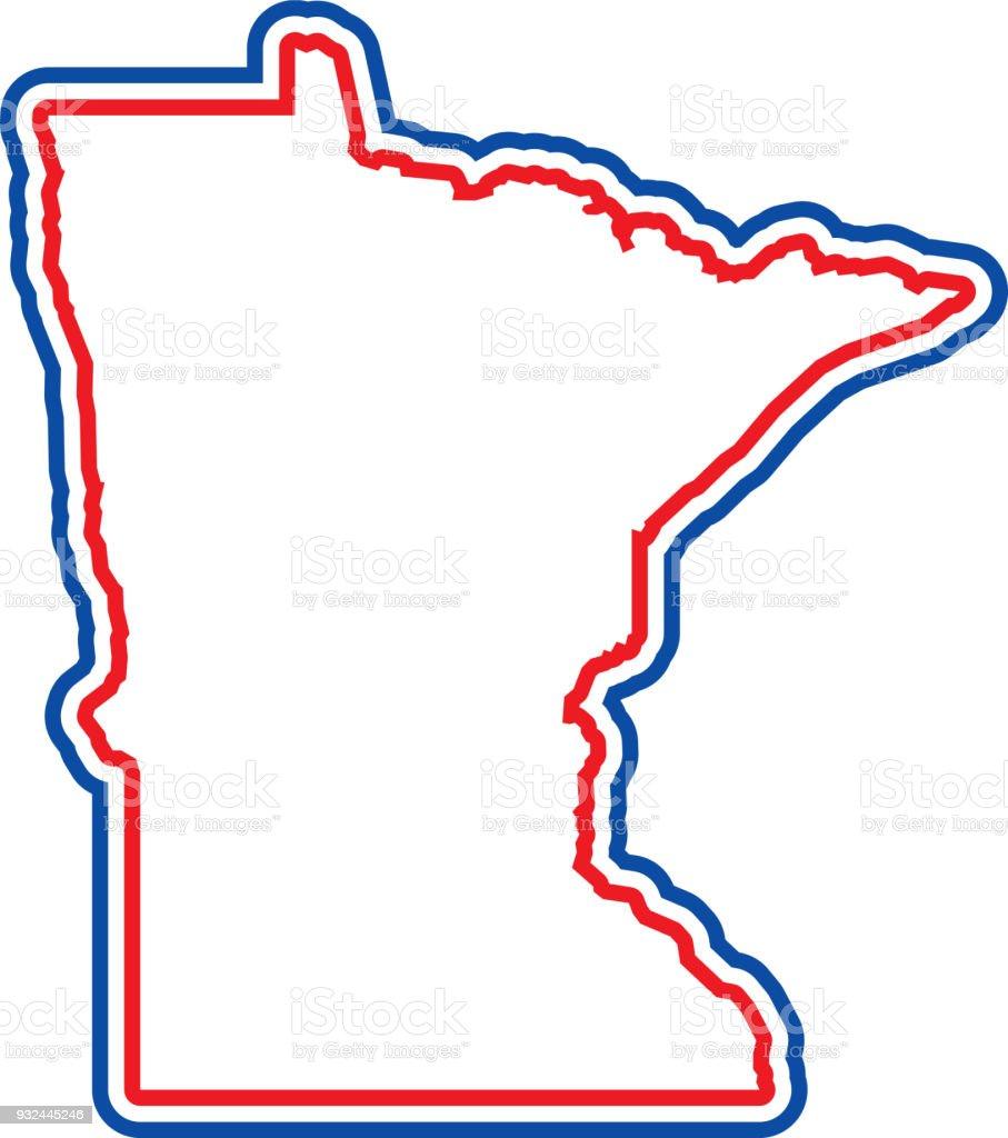 Minnesota Outline Royalty Free Minnesota Outline Stock Vector Art U0026amp; ...