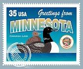 Vector Minnesota Postage