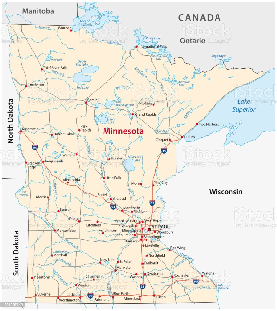 Royalty Free Minnesota Map Clip Art Vector Images Illustrations