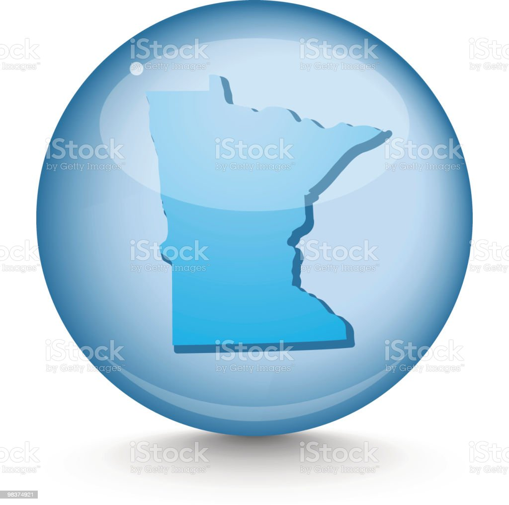 Minnesota - Sphere State Series royalty-free minnesota sphere state series stock vector art & more images of blue
