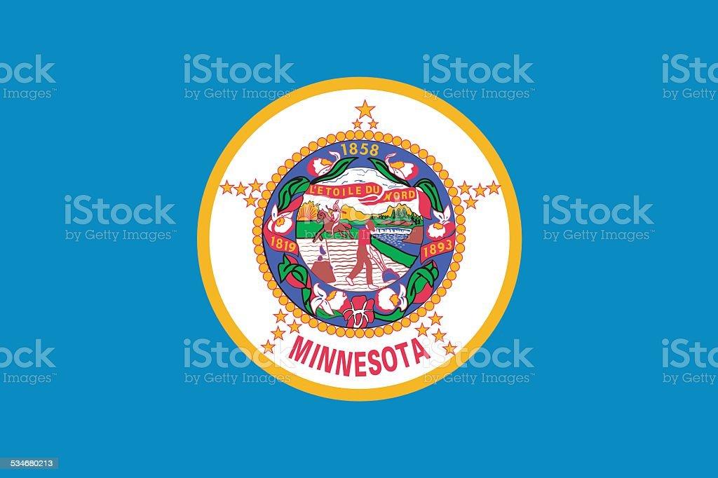 Bandeira do estado de Minnesota - ilustração de arte em vetor