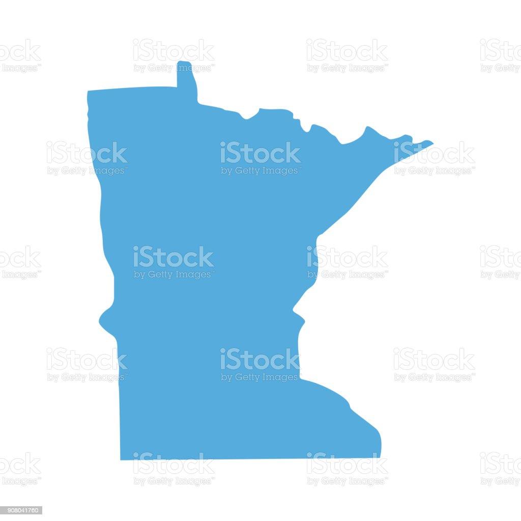 Minnesota State map vector art illustration