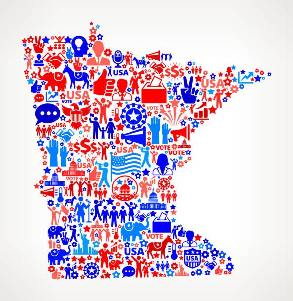 minnesota голосования и выборы сша отечественной значок рисунком - presidential debate stock illustrations