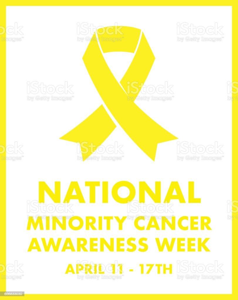 minority cancer awareness vector art illustration