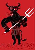 Minotaur with trident