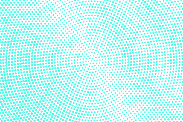 Mint blue dotted halftone. Half tone vector background. Abstract dotted gradient. Mint blue dotted halftone. Half tone vector background. Abstract dotted gradient. Cold palette futuristic texture. Mint blue ink dot on transparent backdrop. Pop art dotwork. Modern design template mint candy stock illustrations
