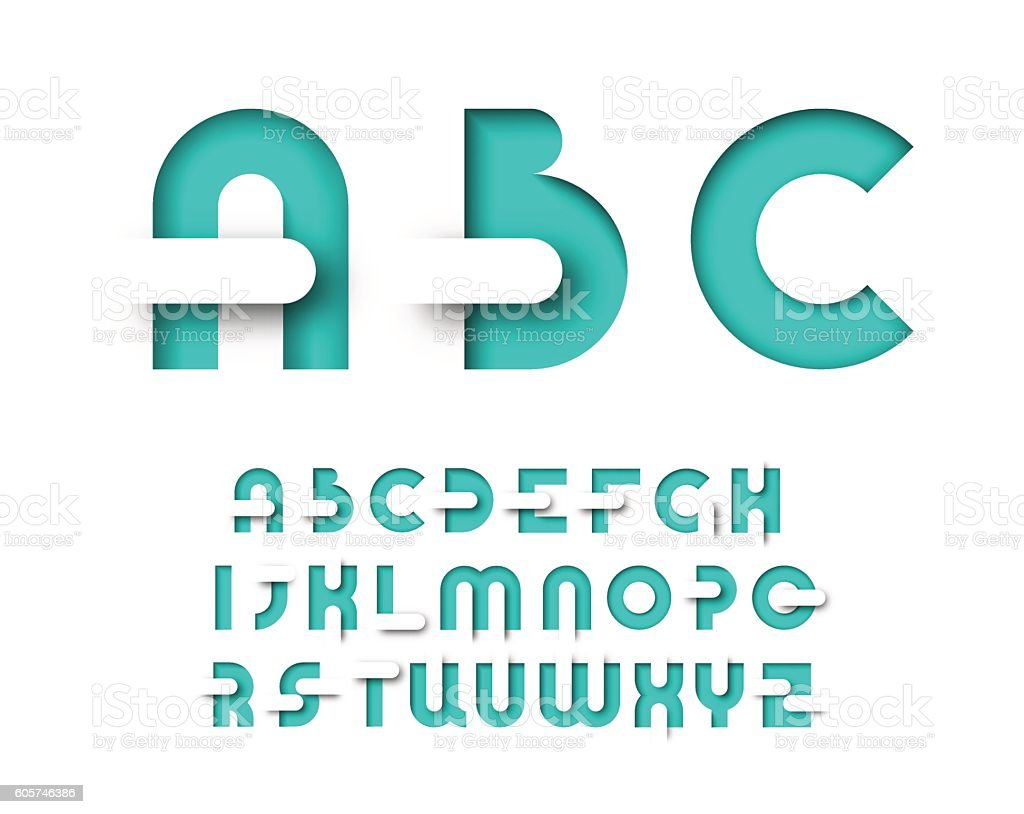Mint color graphical layout type. vector art illustration