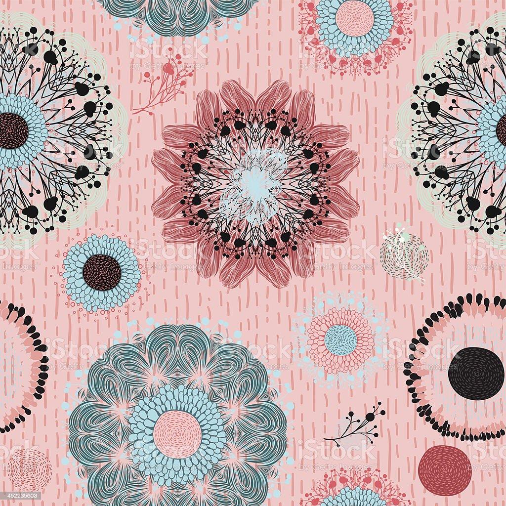Mint fancy mandala royalty-free stock vector art