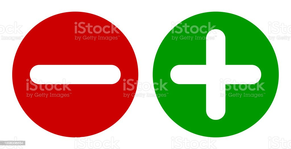 royalty free plus minus sign green red icon web internet